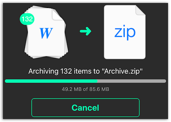 Archive Utility - Create ZIP file