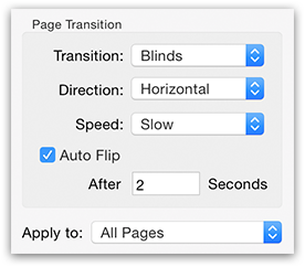 PDFGenius - PDF page transitions options