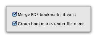 PDFGenius - PDF Merging options