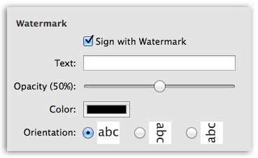 Word to PDF - Sign your document with watermark