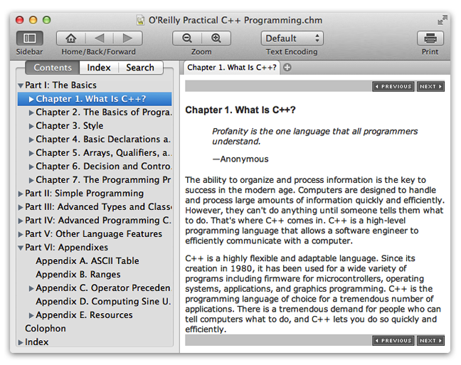 Read CHM - CHM file reader for mac